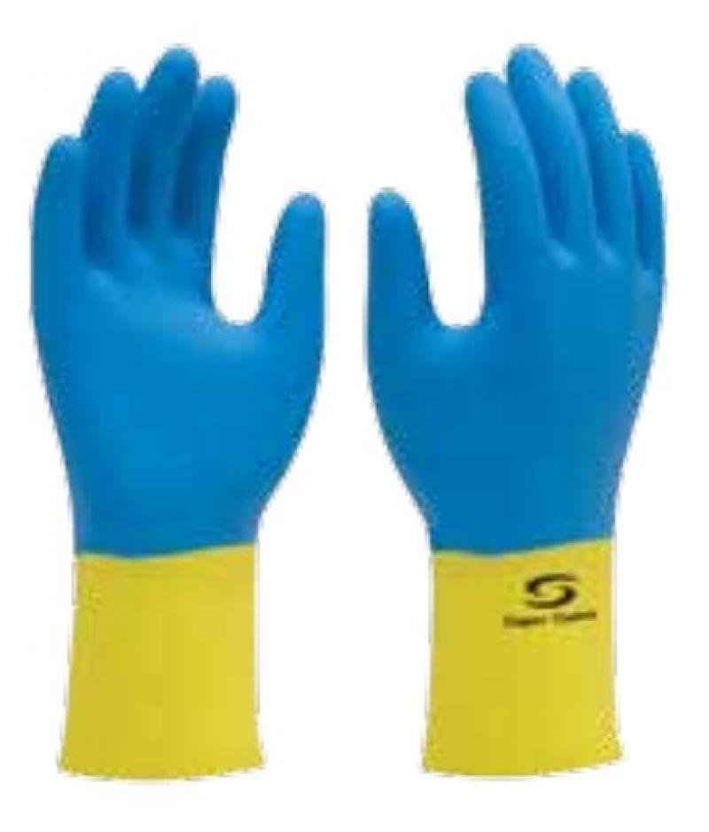 Luva Supermix azul/amarela - Supersafety