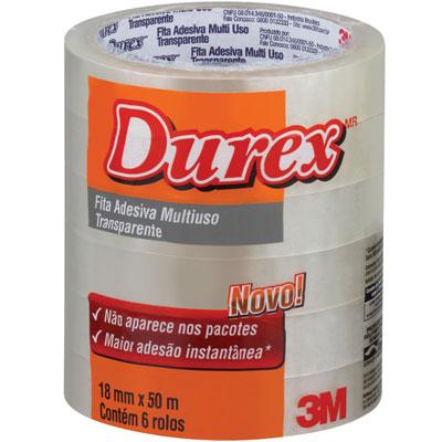 Pacote Rolo Durex 3M 5 unidades
