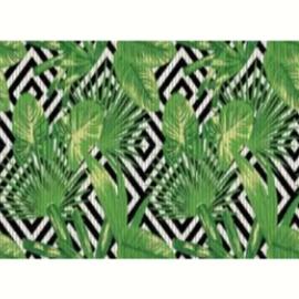 Passadeira tropical jardim abstrato