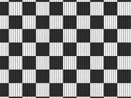 Passadeira  tropical xadrez 43cm