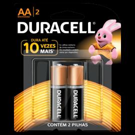 Pilha Duracell alcalina AA-2 pequena