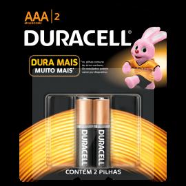 Pilha Duracell alcalina AAA-2 palito