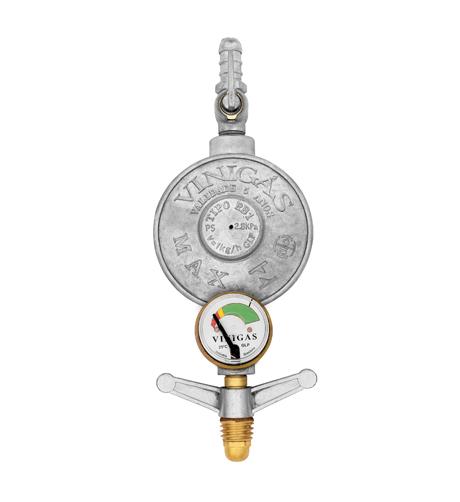 Regulador de gás com Manômetro - Vinigás