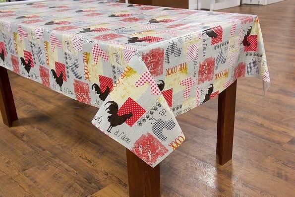 Toalha de mesa flanelado Liverpool  galinha vermelha
