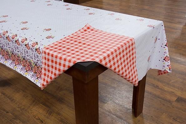 Toalha de mesa Termovip dupla face flor vermelho
