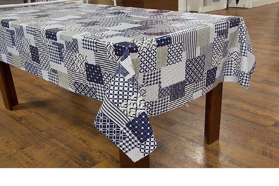 Toalha de mesa Termovip Los Angeles geométrico azul