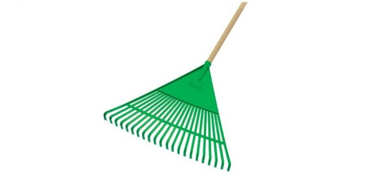 Vassoura Ancinho Verde - com cabo