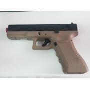 Pistola Airsoft KJW Glock G18 Kp18 Tan usada