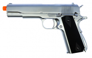 Pistola Airsoft WE 1911 Cromada Full Metal Bk
