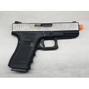 Pistola Airsoft WE Glock G23 G3 Silver