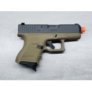 Pistola Airsoft WE Glock G26 G3 Tan