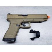 Pistola Airsoft WE Glock G34 G3 Tan