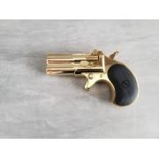 Revolver Derringer Maxtact preto Full metal Greengas