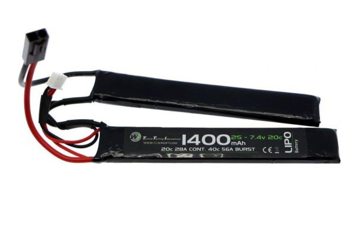 Bateria WE LiPo 7.4v 1400mAh 15c NUNCHUCK 0033