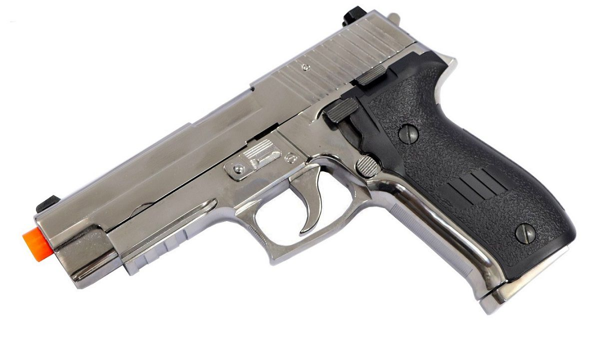 Pistola Airsoft HFC P226 Gbb Full metal Cromada