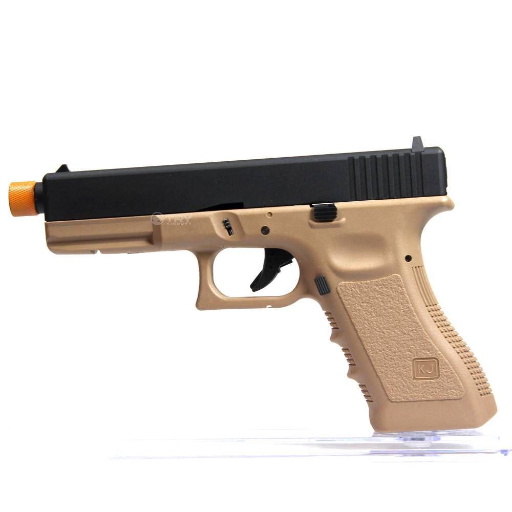 Pistola Airsoft KJW Glock G17 Kp17 Tan