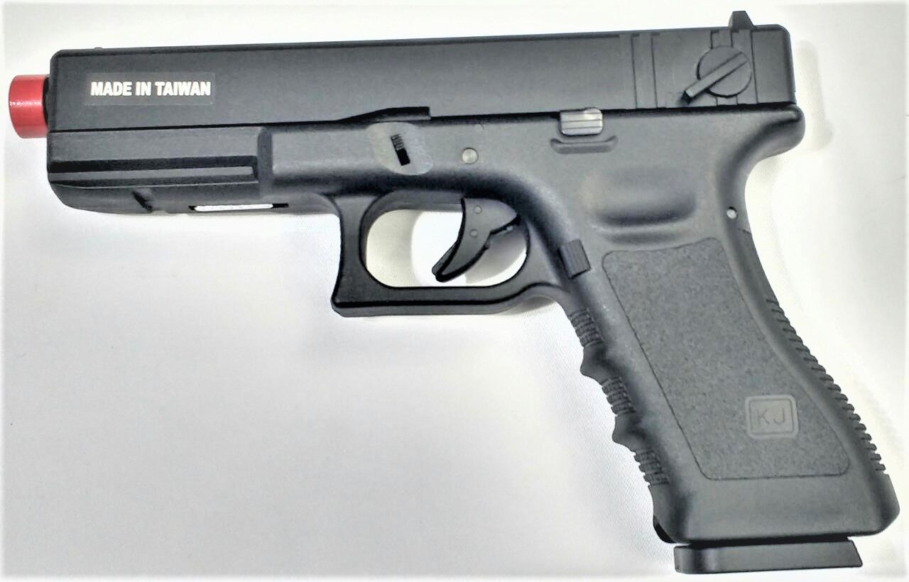 Pistola Airsoft KJW Glock G18 Kp18 Preta
