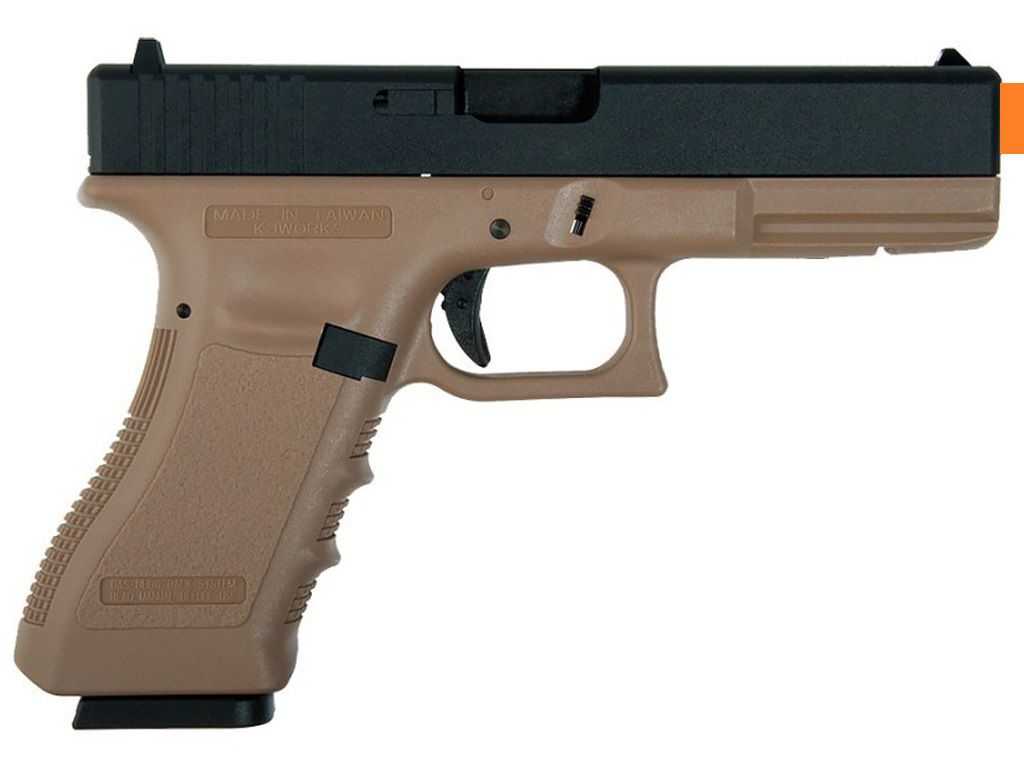 Pistola Airsoft KJW Glock G18 Kp18 Tan
