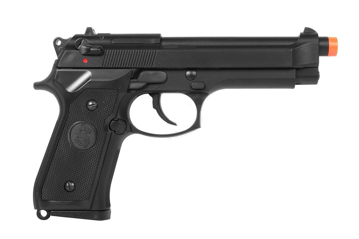 Pistola Airsoft KJW M9 M92 Preta Greengas