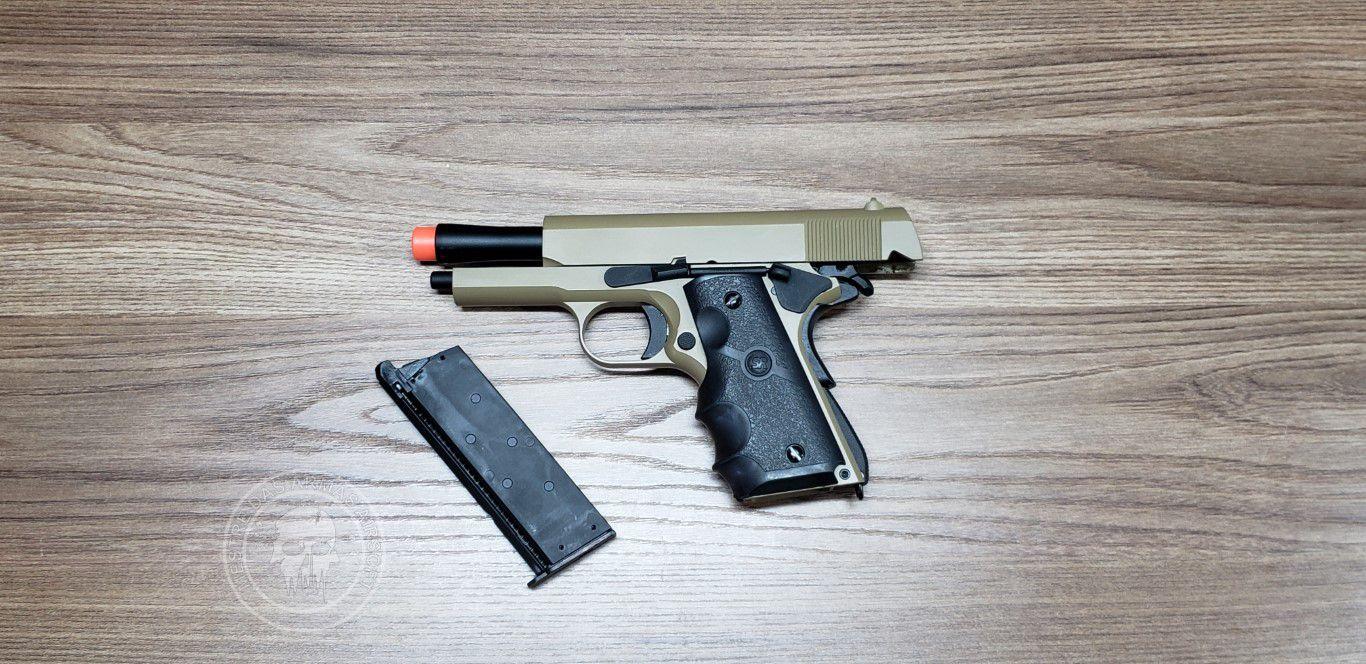 Pistola Airsoft SRC 1911 Commando Tan