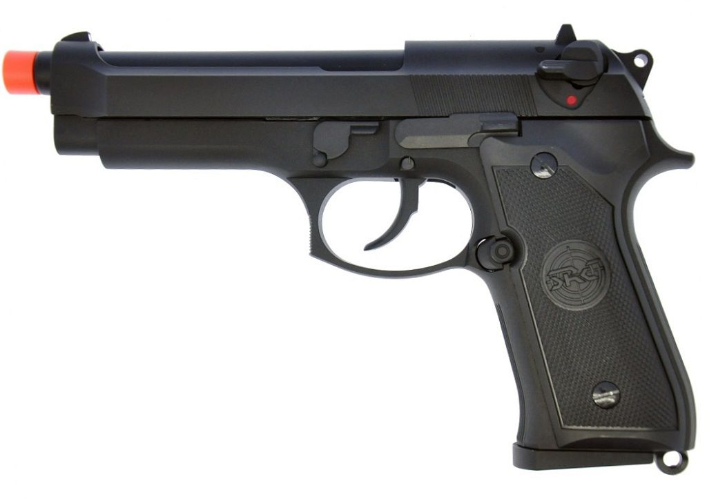 Pistola Airsoft SRC Sr92 M92 Preta Greengas
