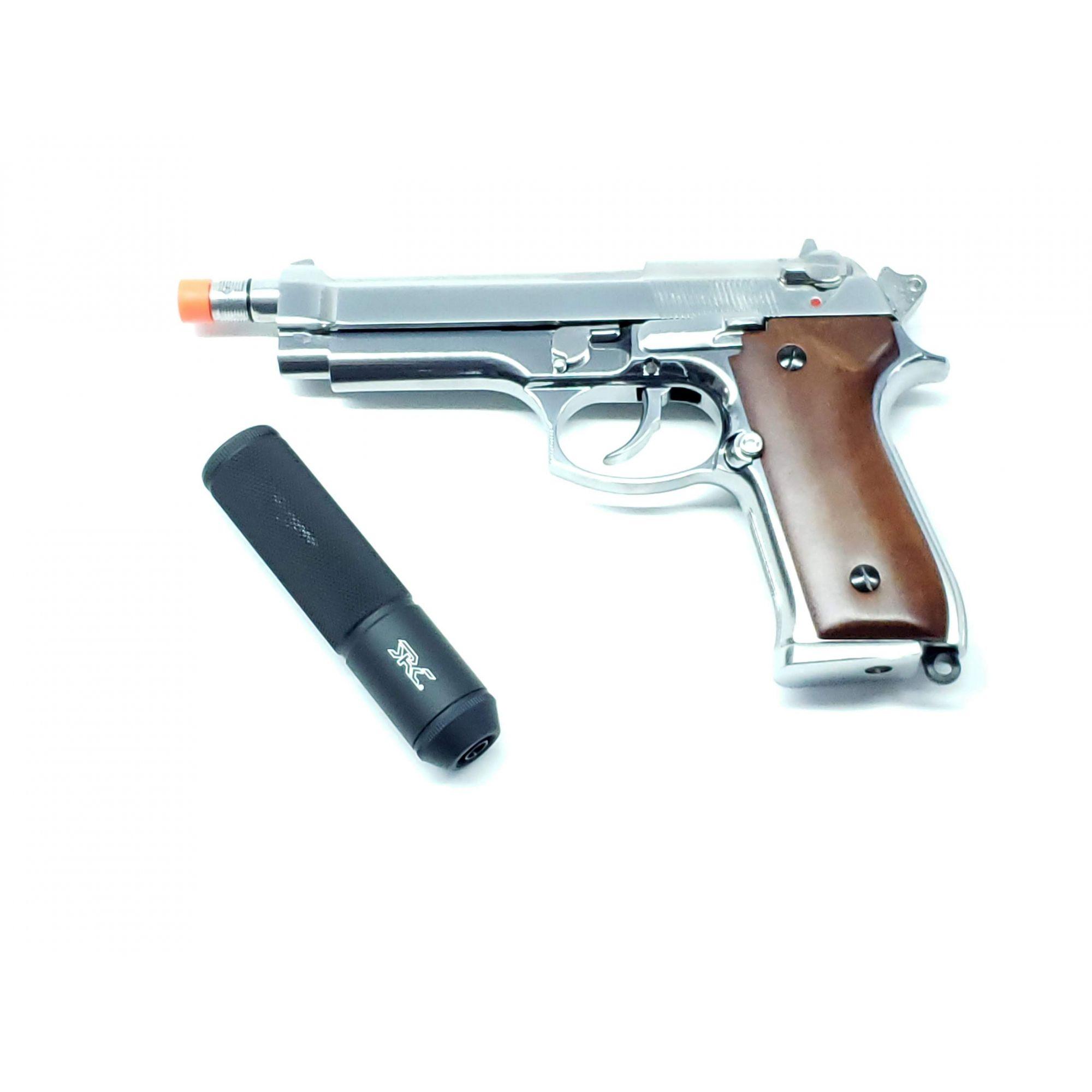 Pistola Airsoft SRC Sr92 Sp M92 Wood Greengas