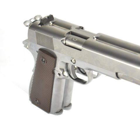 Pistola Airsoft WE 1911 cano duplo 6mm