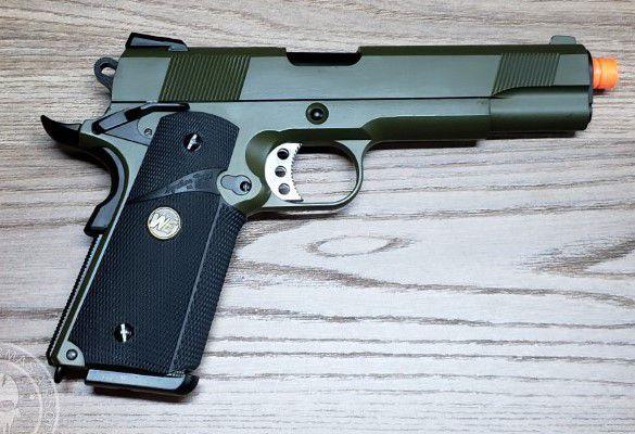 Pistola Airsoft WE 1911 MEU Fg Full Metal