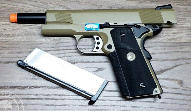 Pistola Airsoft WE 1911 MEU Tan Full Metal
