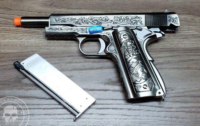 Pistola Airsoft WE 1911 Pattern Floral Full Metal