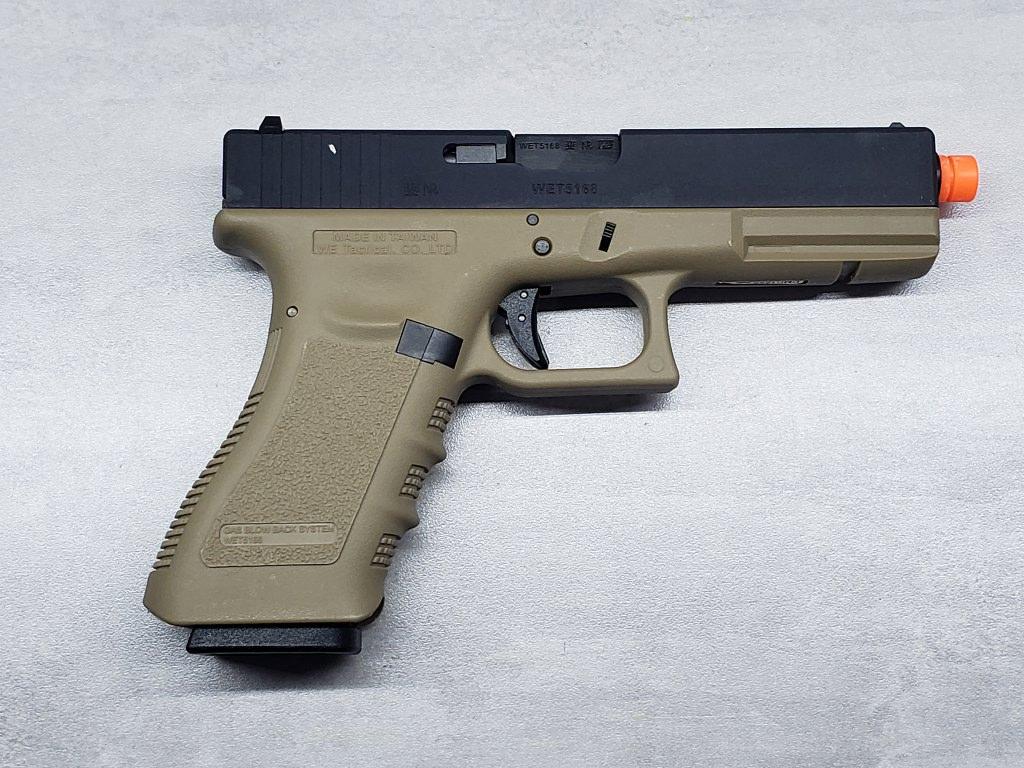Pistola Airsoft WE Glock G17 G3 Tan
