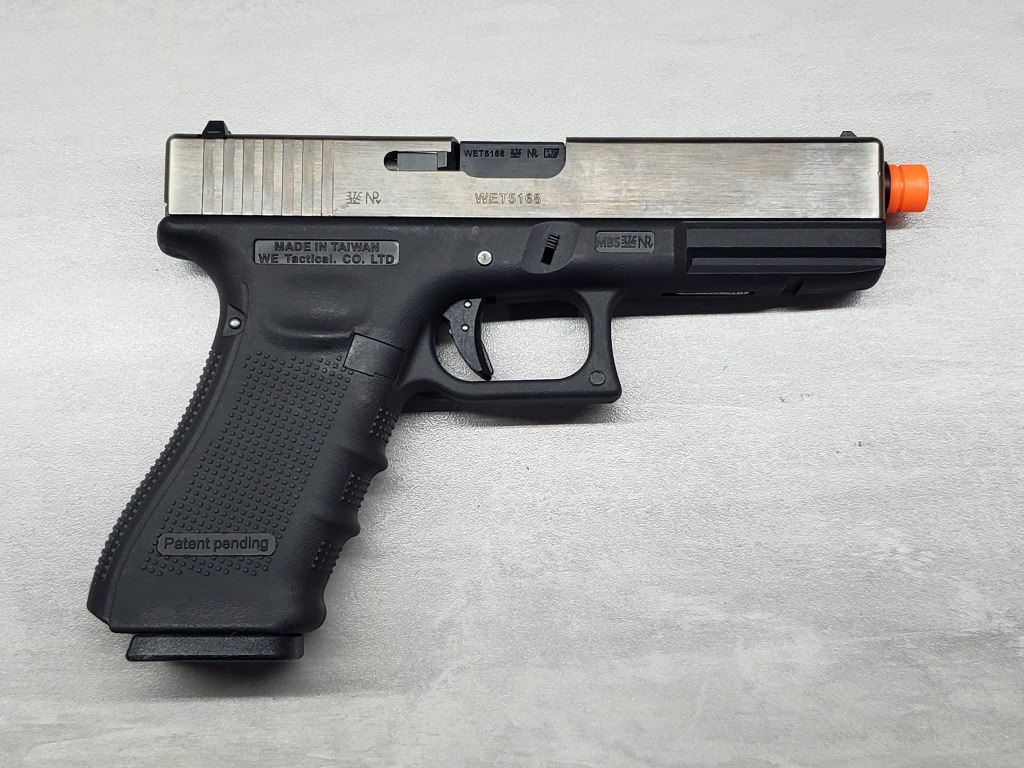 Pistola Airsoft WE Glock G17 G4 Silver