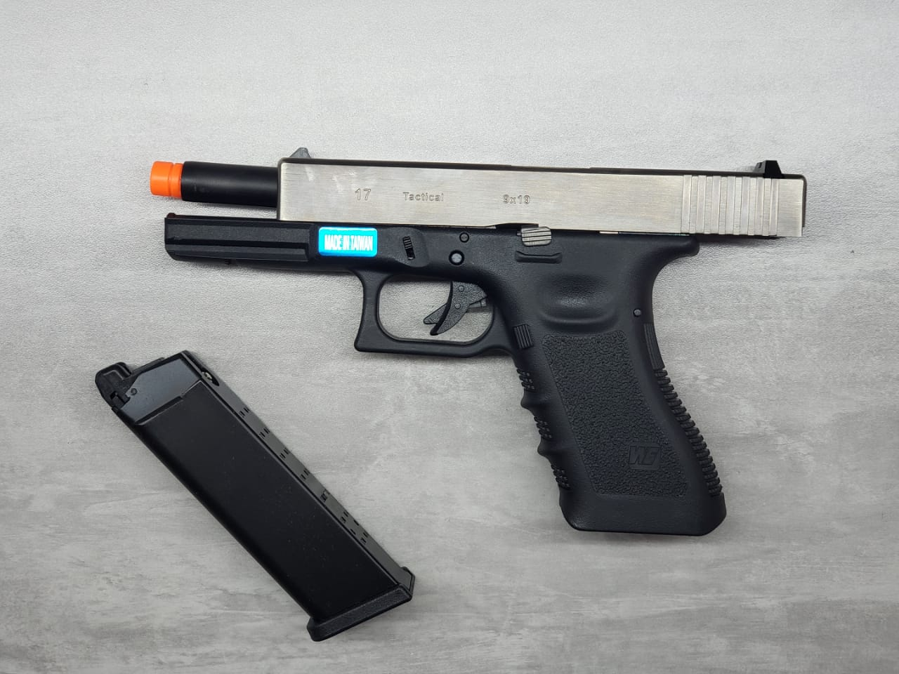 Pistola Airsoft WE Glock G17 Gen3 Cromada