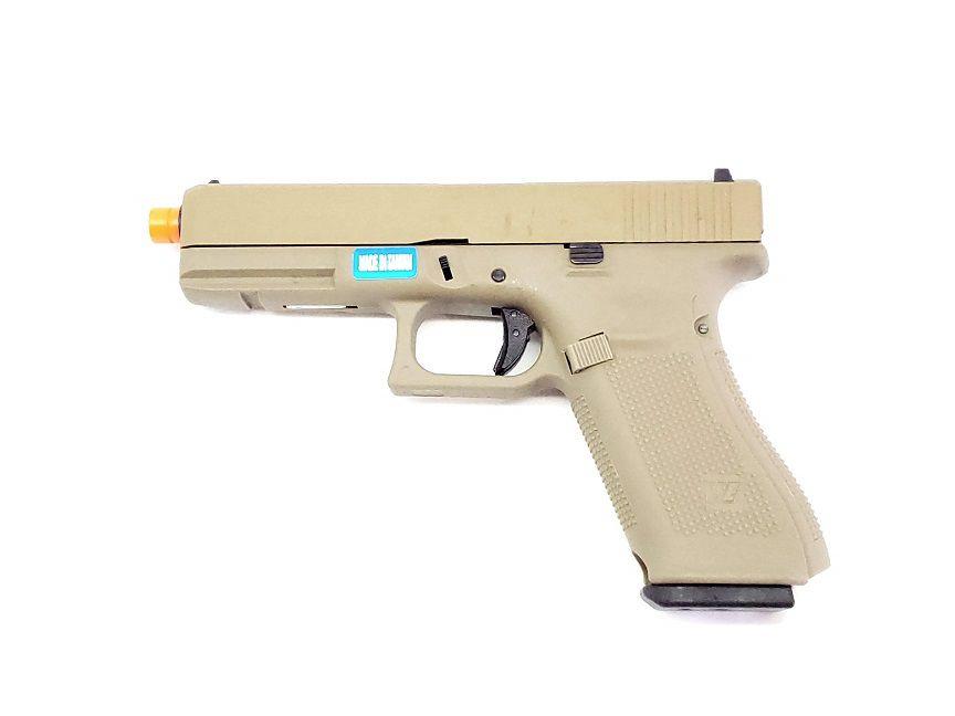Pistola Airsoft WE Glock G17 Gen5 Tan