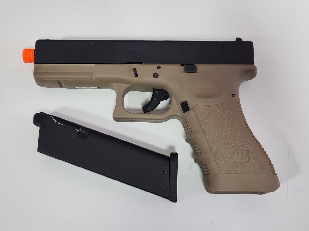 Pistola Airsoft WE Glock G17 tan Usada