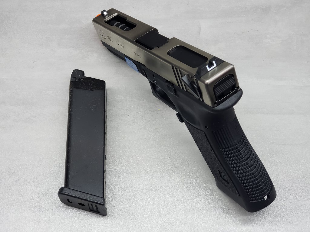 Pistola Airsoft WE Glock G18 G3 Silver