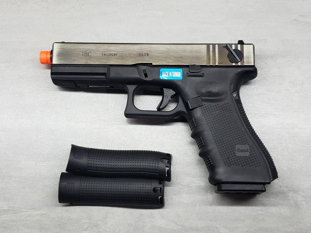 Pistola Airsoft WE Glock G18 G4 Black