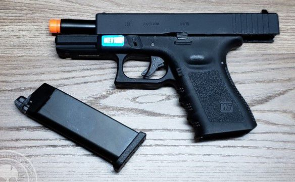 Pistola Airsoft WE Glock G19 Gen3 Mesmo Tamanho G25