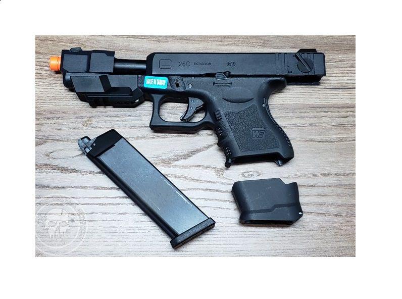 Pistola Airsoft WE Glock G26 Advance