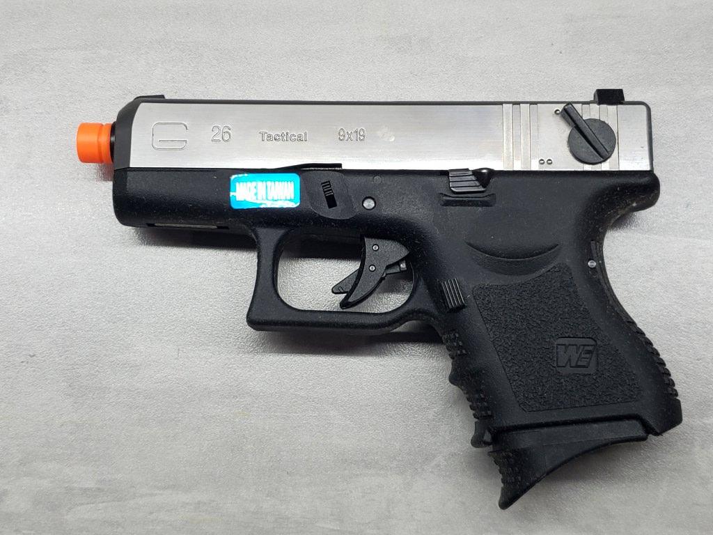 Pistola Airsoft WE Glock G26 G3 Silver