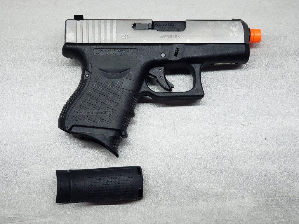 Pistola Airsoft WE Glock G26 G4 Silver