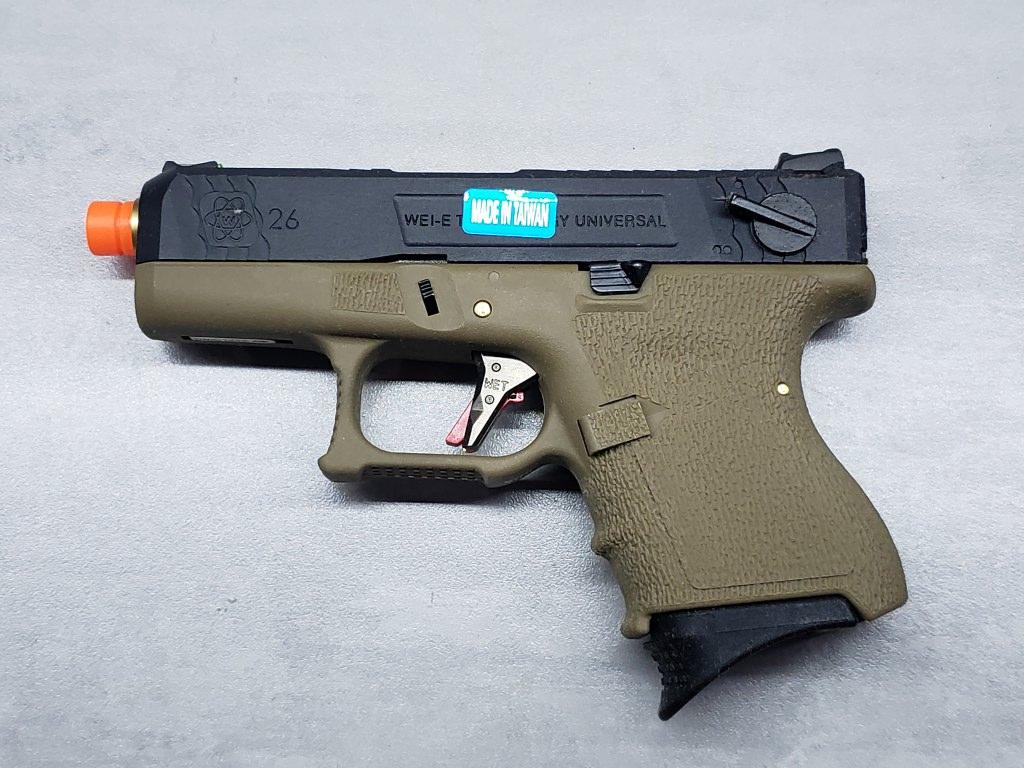 Pistola Airsoft WE Glock G26 T06