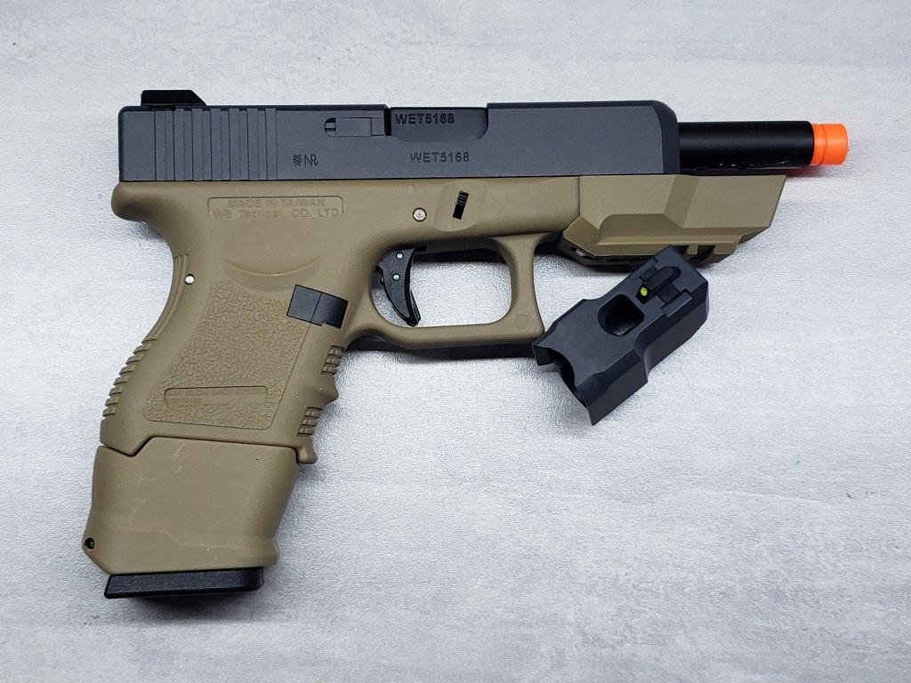 Pistola Airsoft WE Glock G27 G4 Black