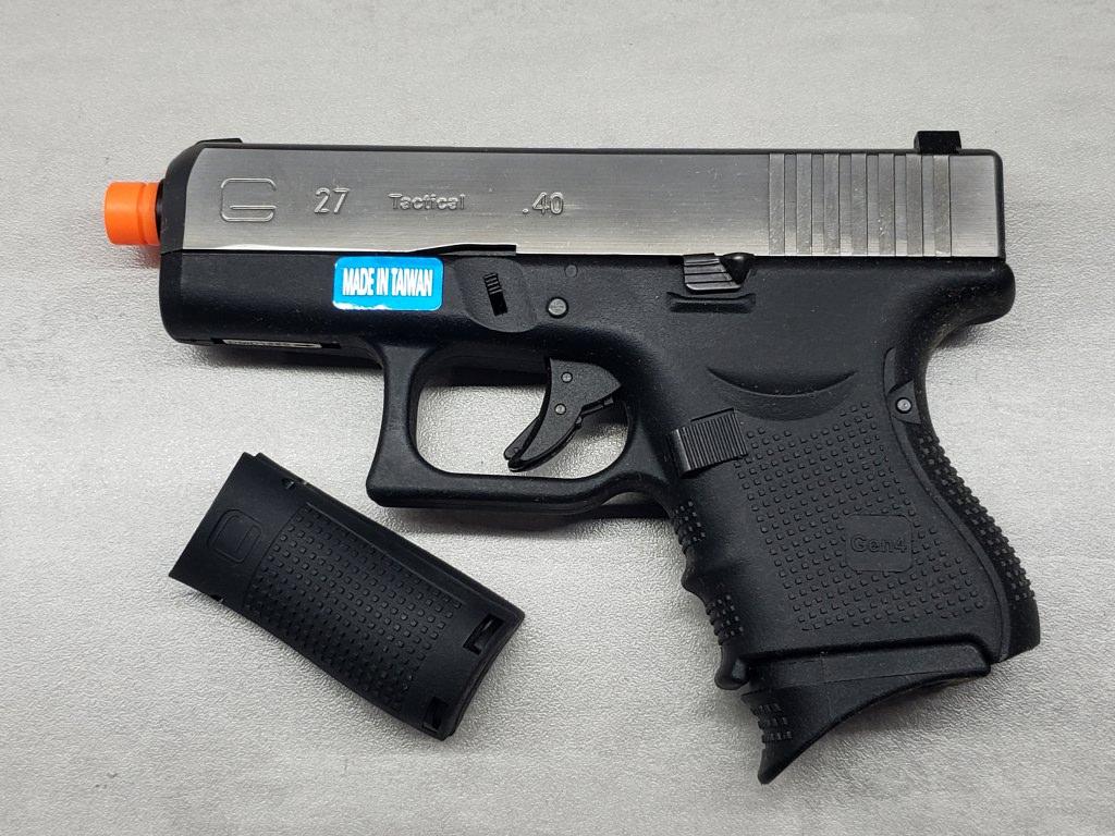Pistola Airsoft WE Glock G27 G4 Silver