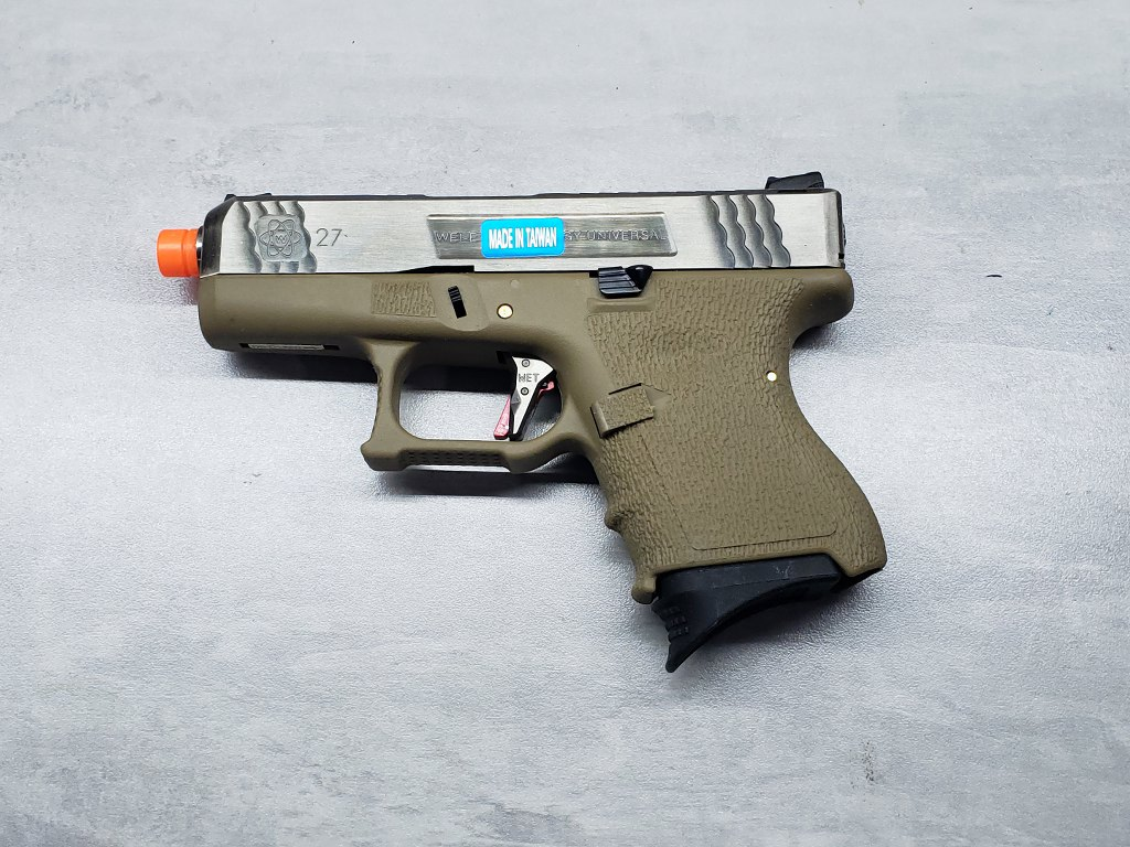 Pistola Airsoft WE Glock G27 T08