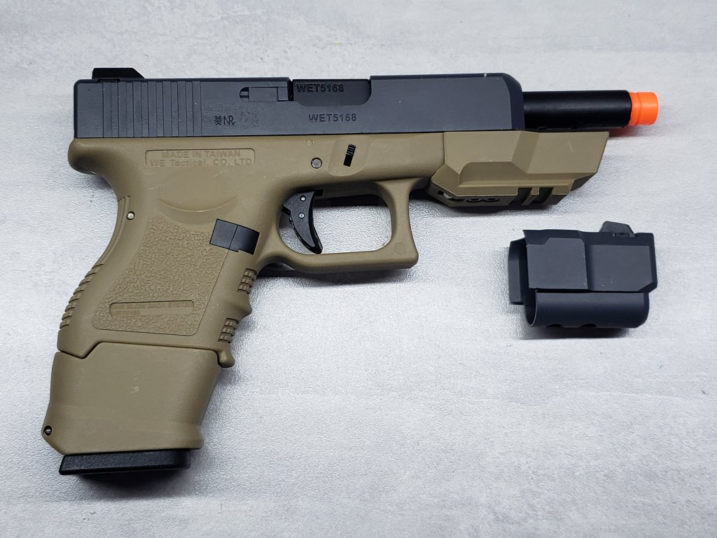 Pistola Airsoft WE Glock G33 G3 Tan