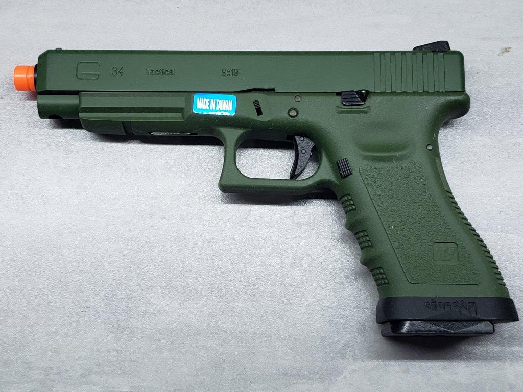 Pistola Airsoft WE Glock G34 G3 Green