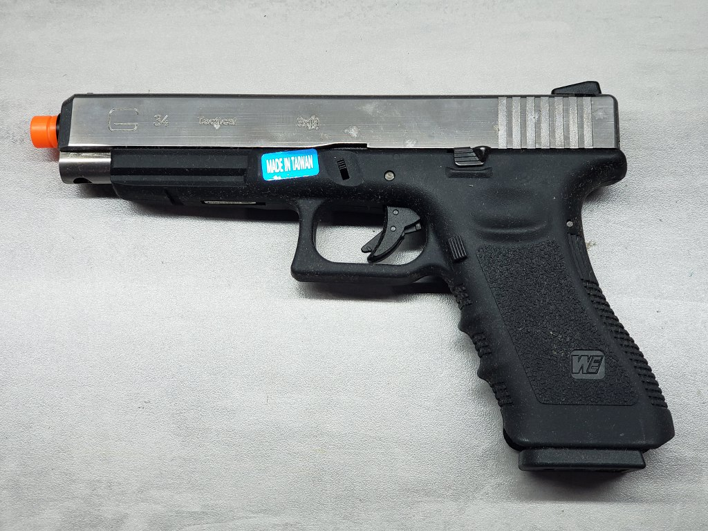 Pistola Airsoft WE Glock G34 G3 Silver