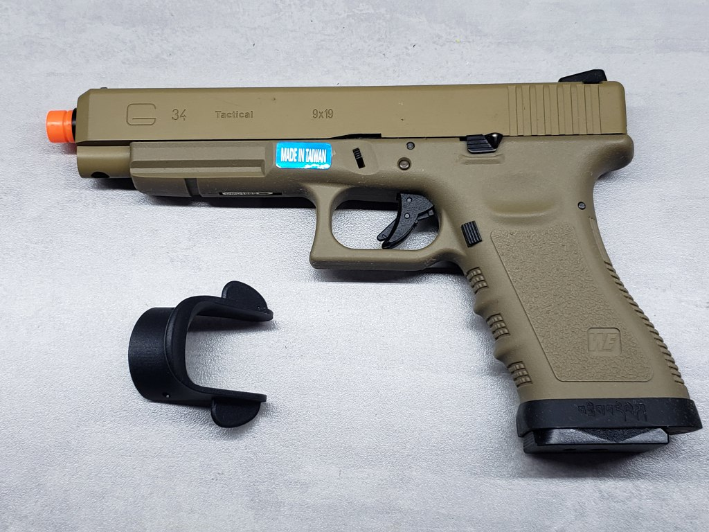 Pistola Airsoft WE Glock G34 G3 Tan