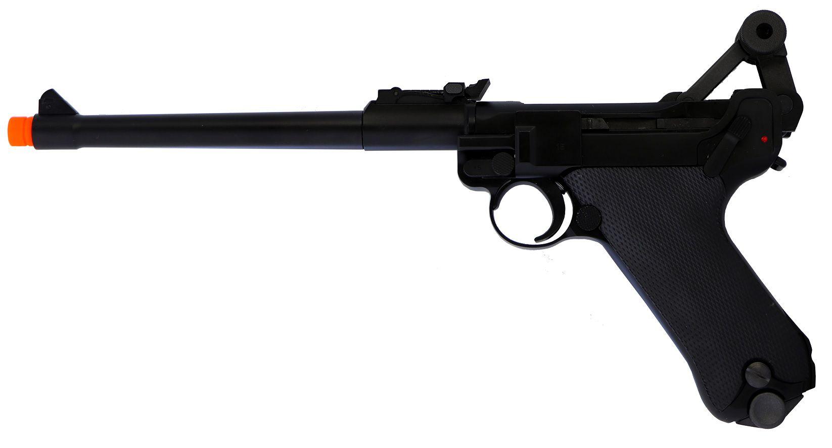 Pistola Airsoft WE Luger Preta P08